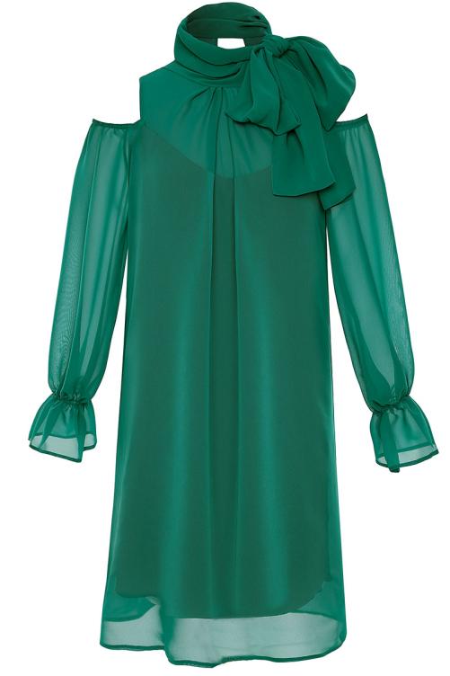 e3f9d53b9f Zielona sukienka koktajlowa Kleopatra